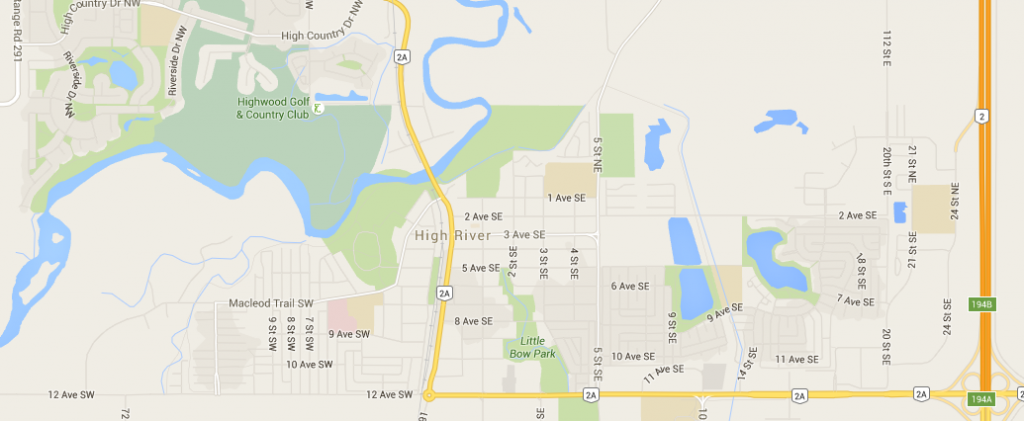 high river map grid